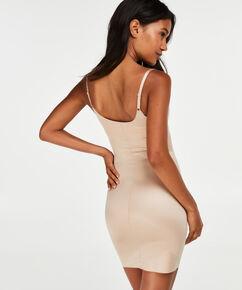 Opstrammende kjole i scuba-stof - Level 3, tan