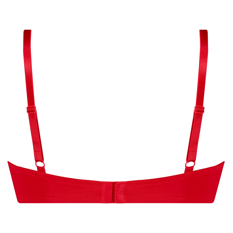 Plunge formstøbt bøjle-bh, rød, main