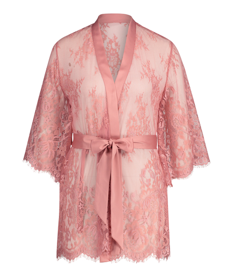 Lace Isabelle kimono, pink