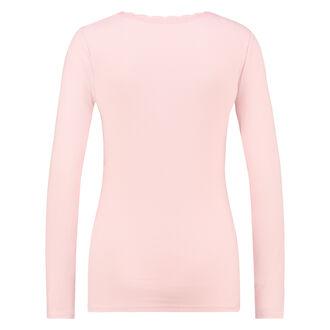 LS ribtop R-neck, pink