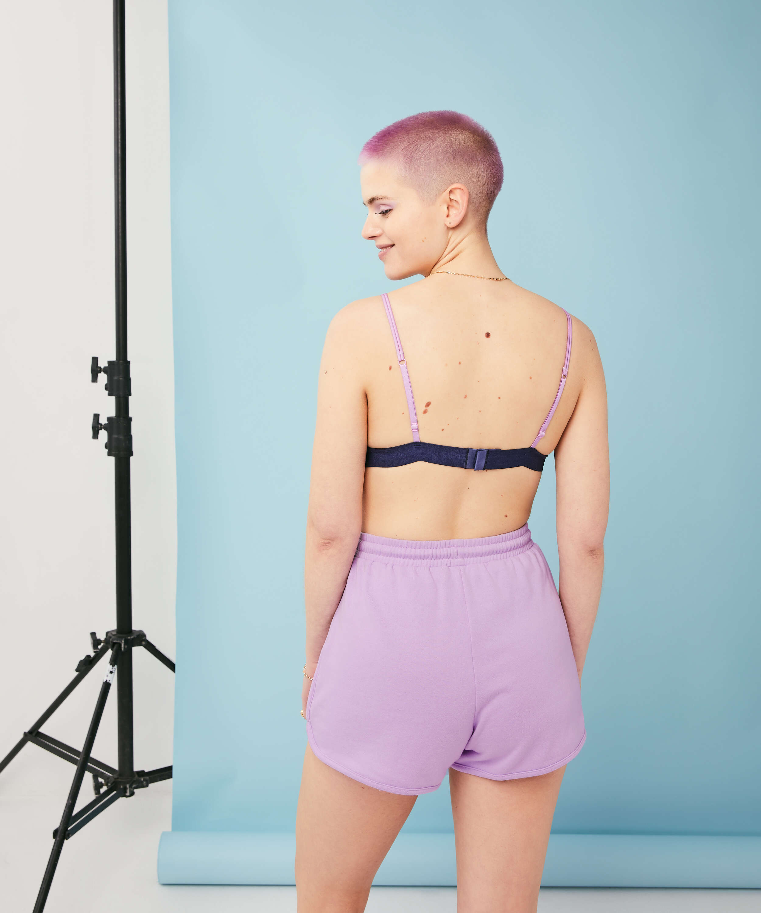 Bralette Glo Up, blå, main