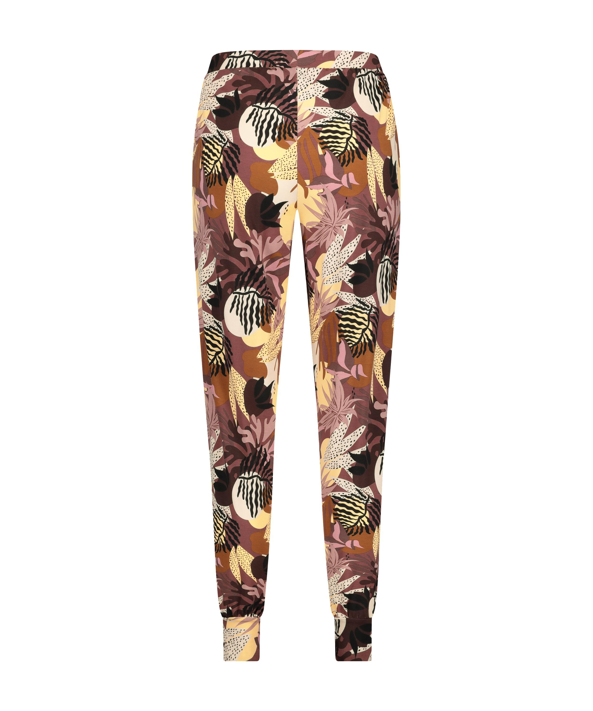 Pyjamasbukser Jersey Abstract Leaf, pink, main