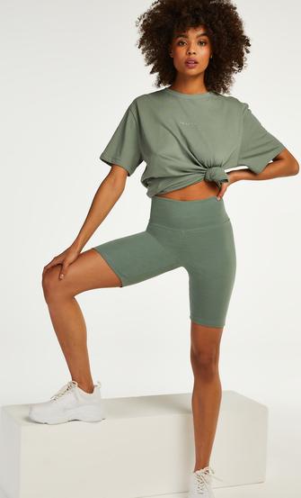 Kort pyjamassæt Biker, grøn