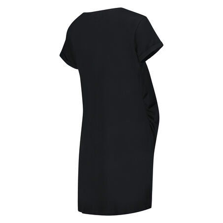 Pyjamas-T-shirt med korte ærmer til gravide, sort