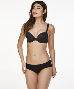 Superslip bikini bomuld, sort