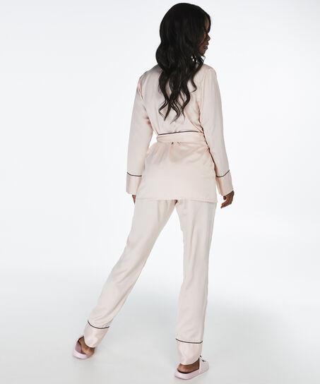Satin pyjamasbukser Bow, pink