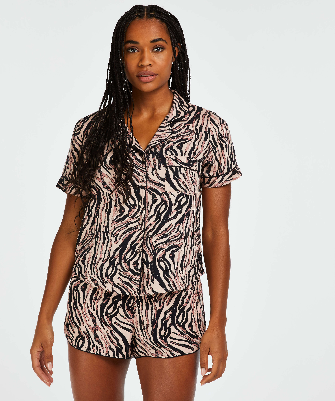Pyjamasjakke Zebra, Beige, main