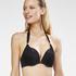 Boho Chic formstøbt pushup-bikinitop, sort