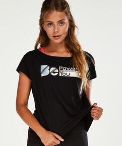 HKMX sports-T-shirt med korte ærmer, sort
