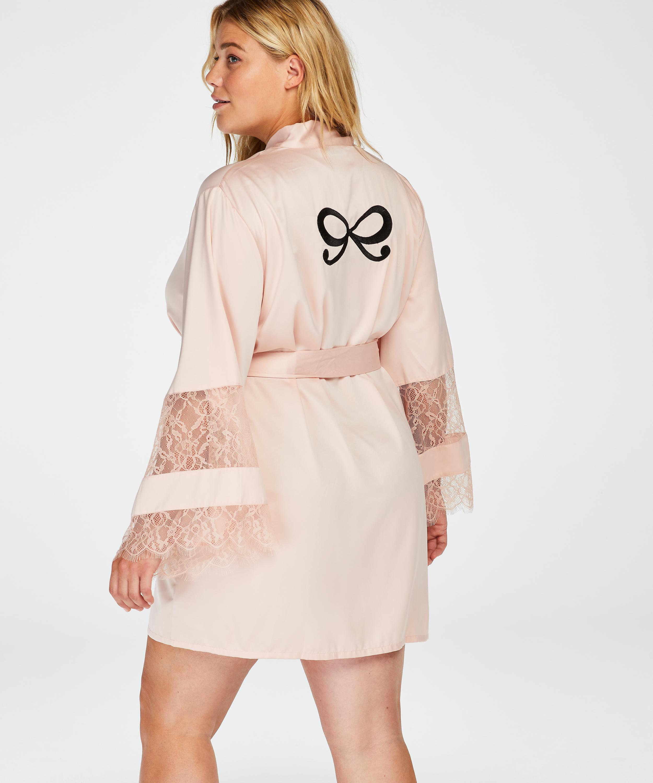 Kimono satin lace, pink, main
