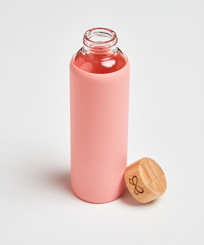 Vandflaske i glas, pink, main