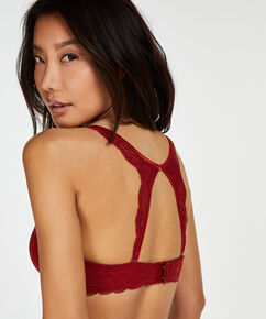 Lace back-detalje, rød