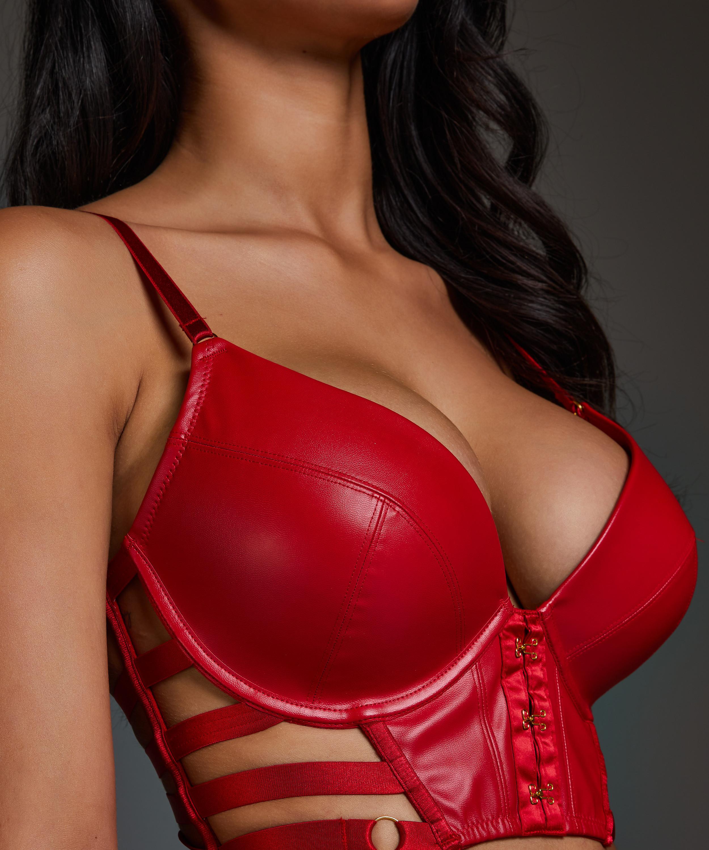 Formstøbt pushup-bøjle-bh Vicky, rød, main