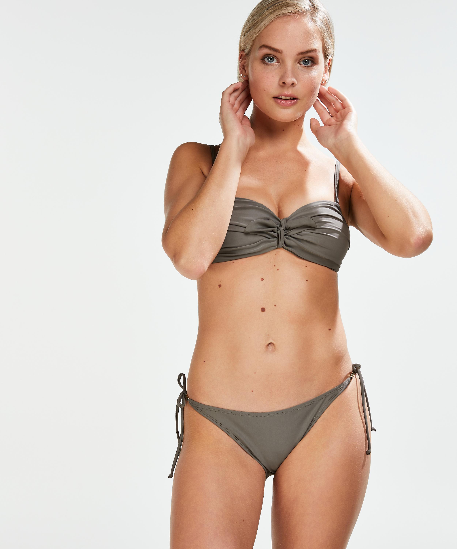 Formstøbt bandeau-bikinitop Tribe, grøn, main