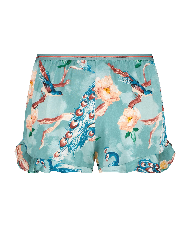 Pyjamasshorts, blå, main