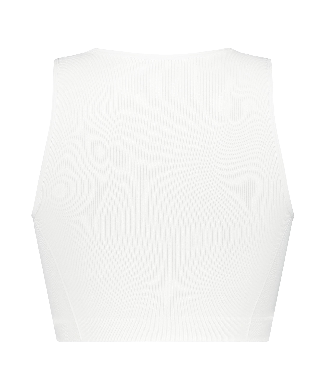 Crop top Bae, hvid, main