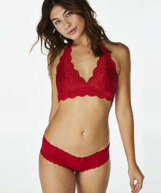 Halter Lace bralette, rød