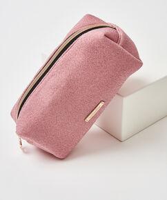 Glitter makeuptaske, pink