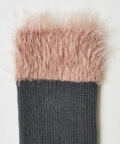 1 par fluffy strømper, Grå