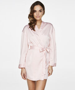 Satin kimono Brides Crew, pink