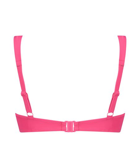 Luxe formstøbt bikinitop med bøjle Størrelse E +, pink