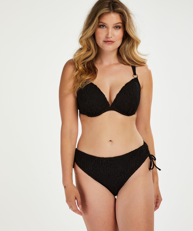 Formstøbt bikinitop med bøjle Crochet, sort, main