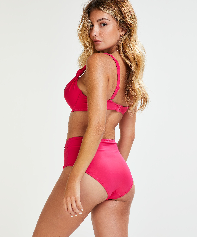 Luxe formstøbt bikinitop med bøjle Størrelse E +, pink, main