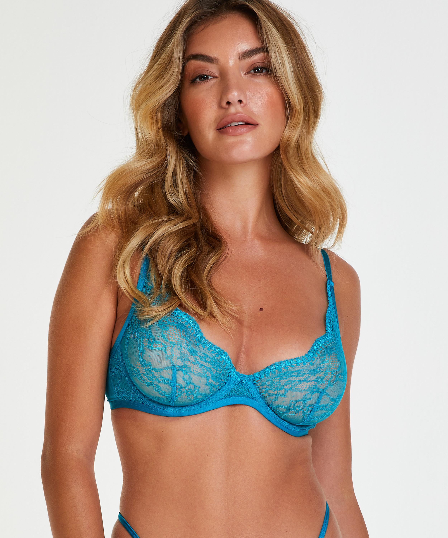 Ikke-polstret tråd-bh Isabelle, blå, main