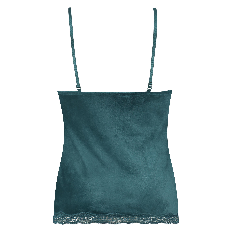 Cami Velour Lace, blå, main