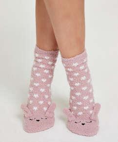 1 par sokker Cosy Bunny, pink