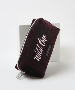 Makeup-taske velour Wild One, rød