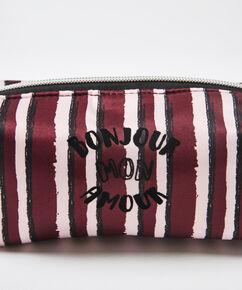 Makeup-taske Satin, rød