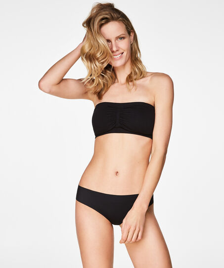 Seamless bandeau-top, sort