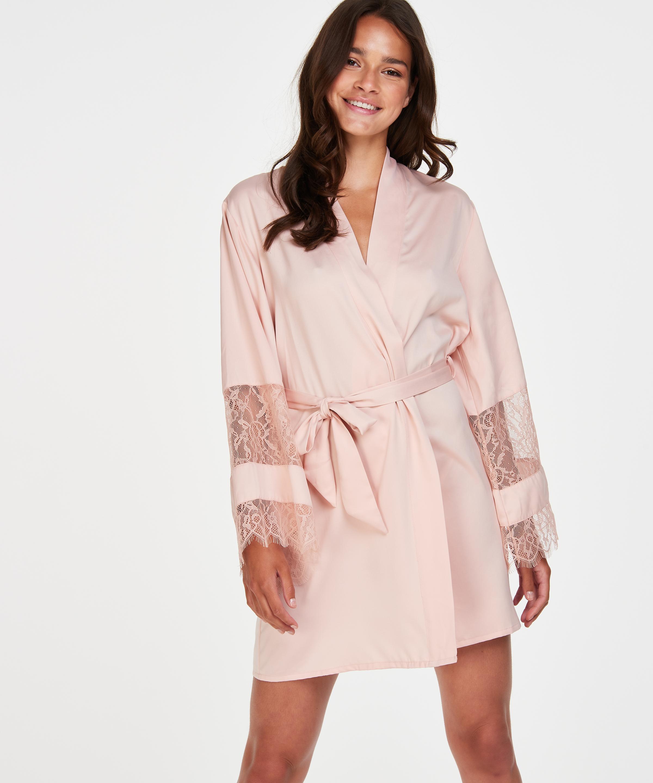 Kimono satin Bridal, pink, main