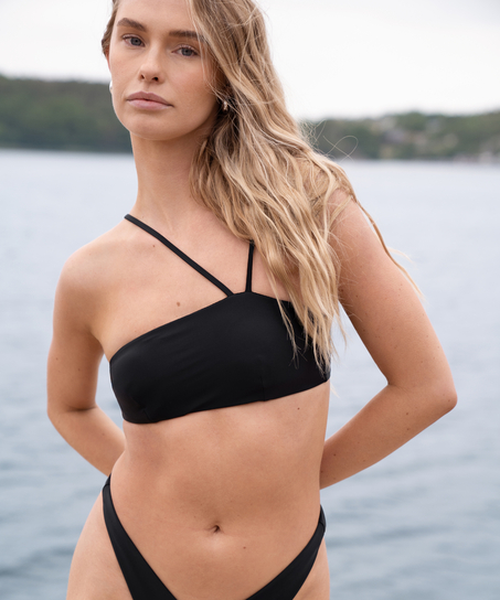 Bandeau bikinitop HKM x NA-KD, sort