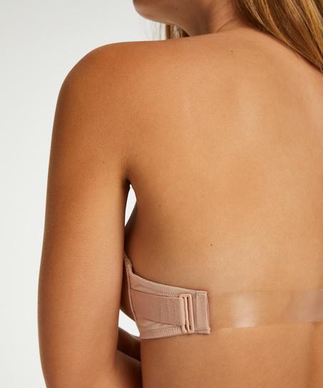Transparant Back formstøbt pushup-bøjle-bh, Beige