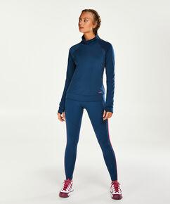 HKMX sportstop lange ærmer high neck, blå