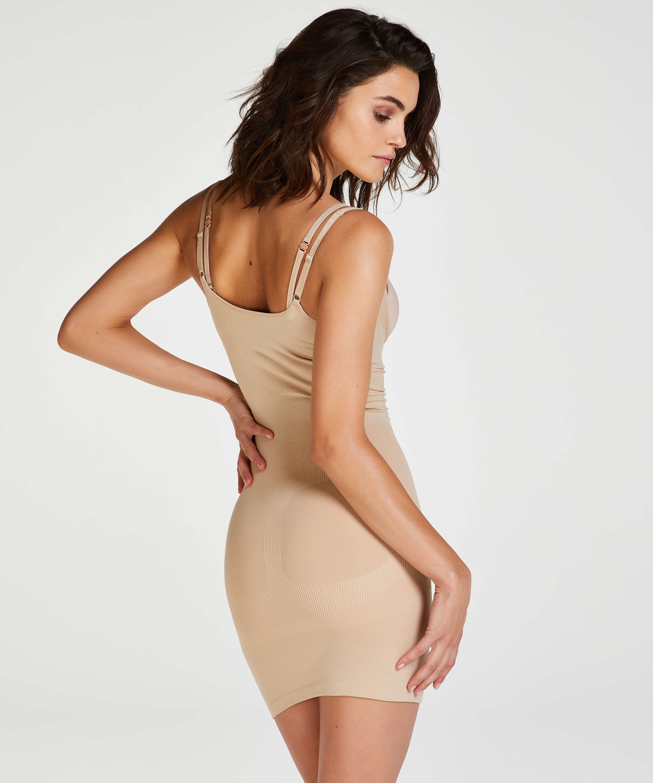Opstrammende kjole - Level 2, Beige, main