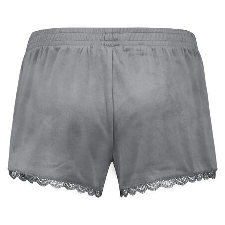 Velours Lace shorts, Grå