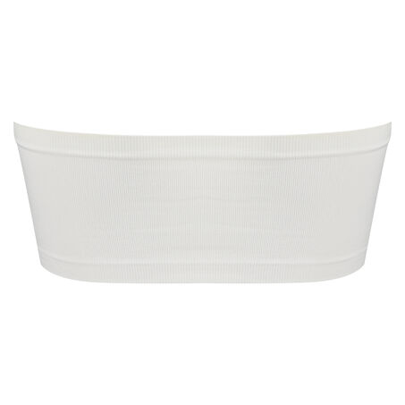 Seamless bandeau-top, hvid