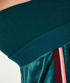 Velours joggingbukser til gravide, grøn