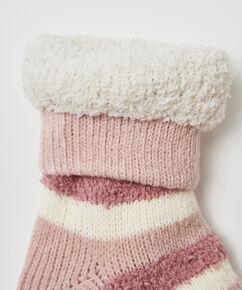 Cosy strømper stripe, pink