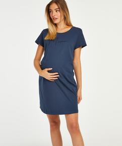 Pyjamas-T-shirt med korte ærmer til gravide, blå