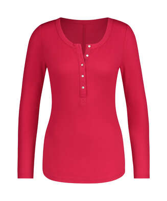 Pyjamastop med lange ærmer, pink