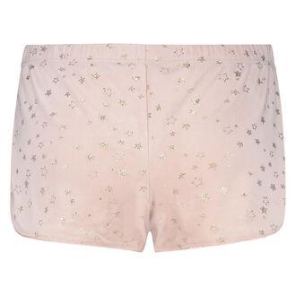 Shorts Velour Stjerne, pink