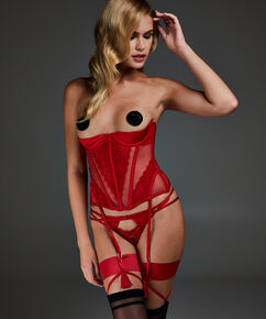 Bustier Avery, rød