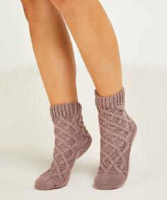 Knit sokker, lilla