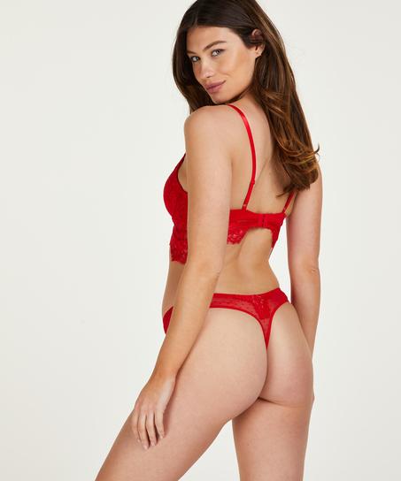 Marilee formstøbt longline bøjle-bh, rød