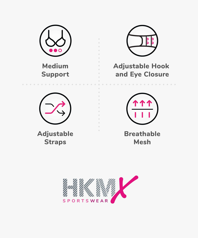 HKMX Sport bh The All Star Level 2, hvid, main
