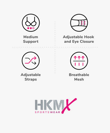HKMX Sport bh The All Star Level 2, hvid